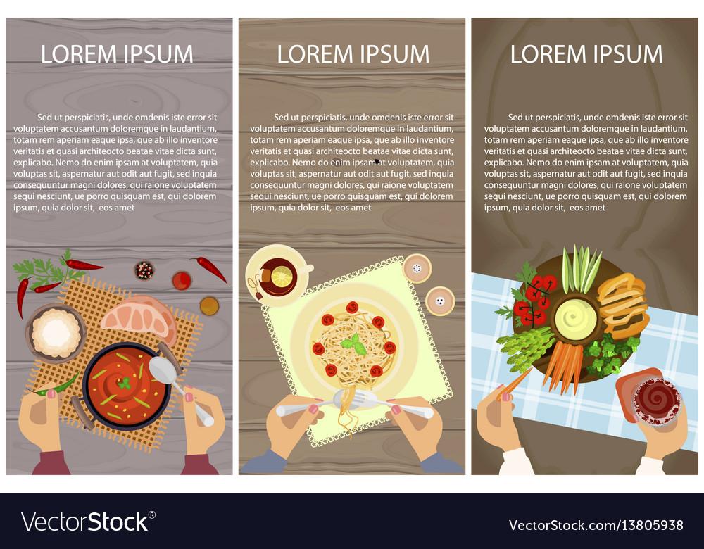 Vegetarian menu for lunch