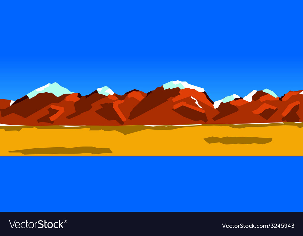 Background of a mountain range