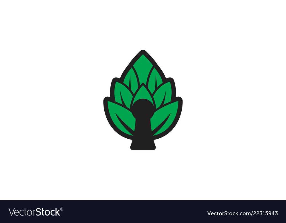 Brew house hops logo designs inspiration isolated