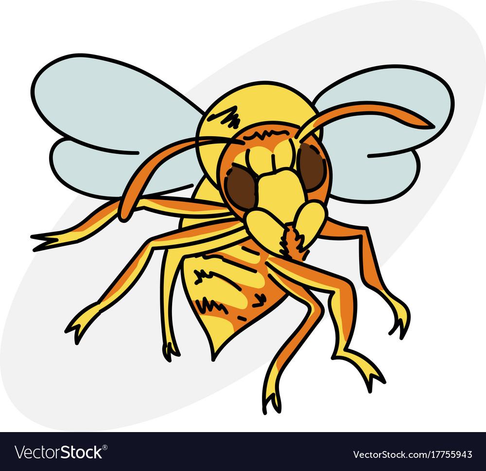 cartoon hornet royalty free vector image vectorstock rh vectorstock com hornet cartoon image cartoon hornet green