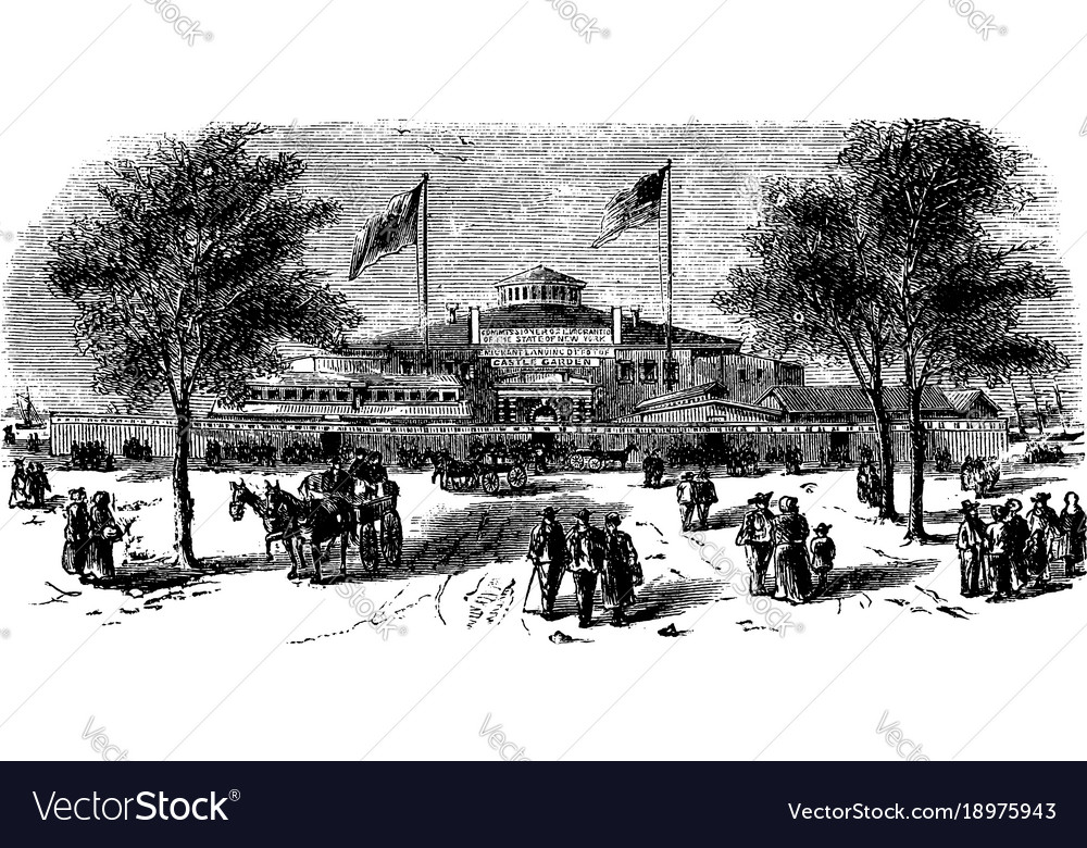 Castle garden was once a circular sandstone fort vector image