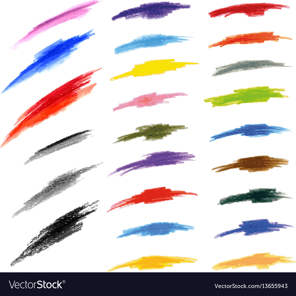 Design elements pen doodle vector image