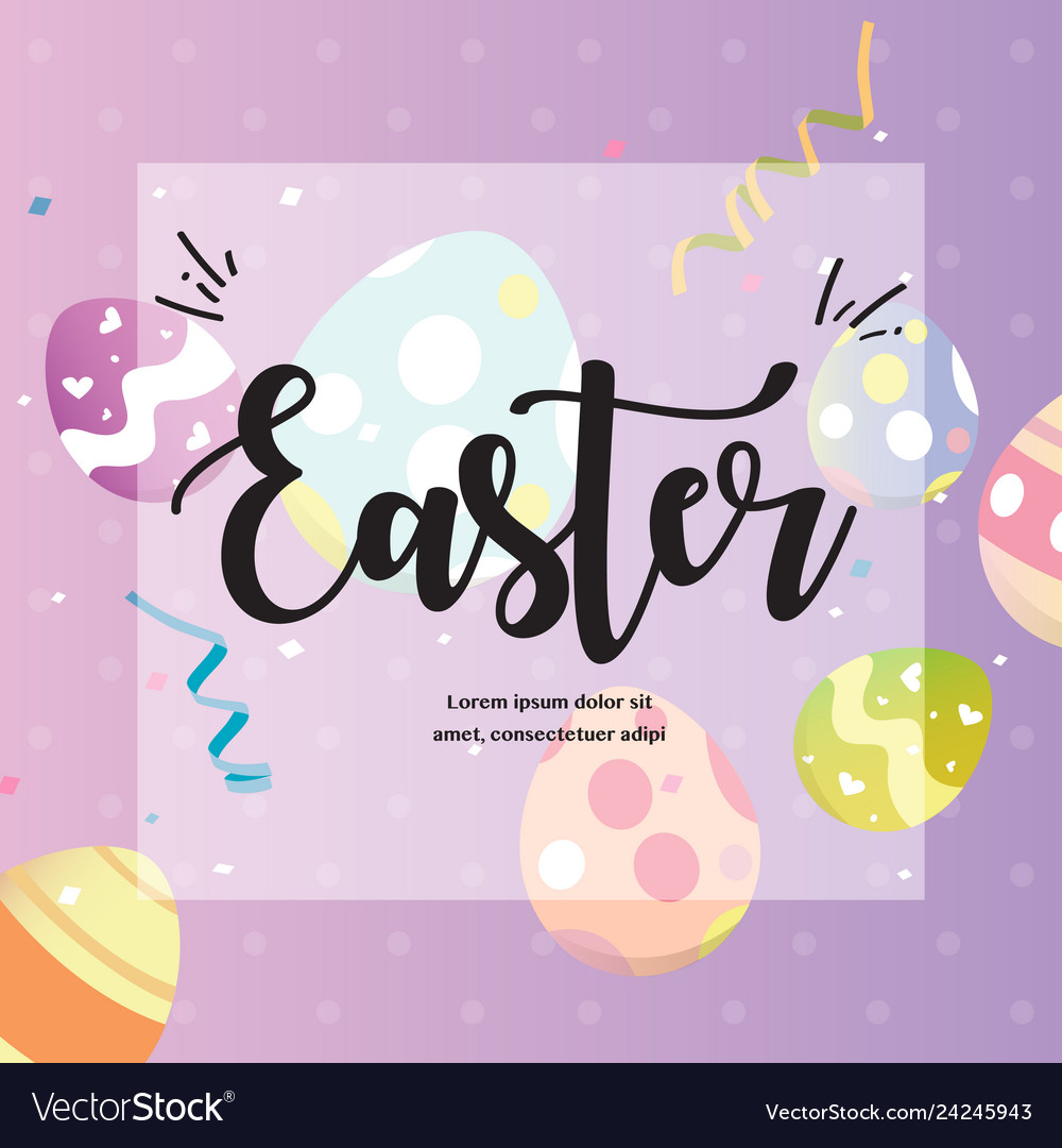 Happy easters day greeting card