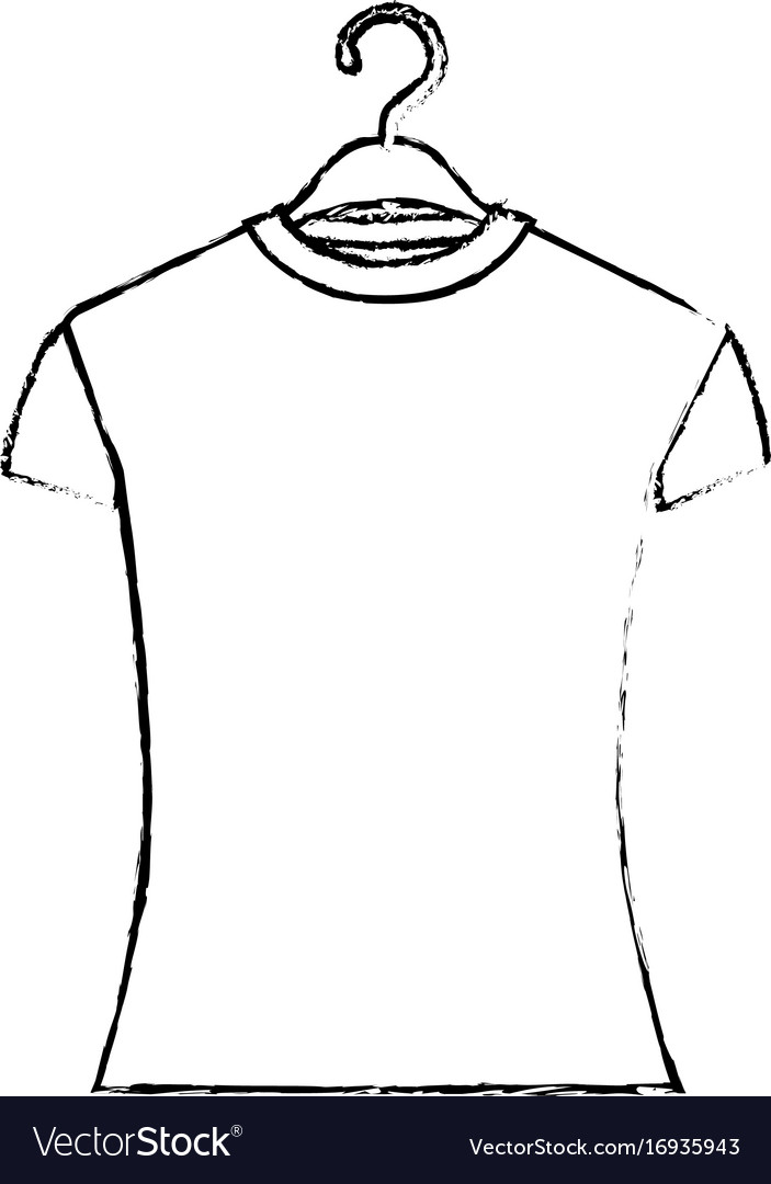 Monochrome blurred silhouette of woman t-shirt in