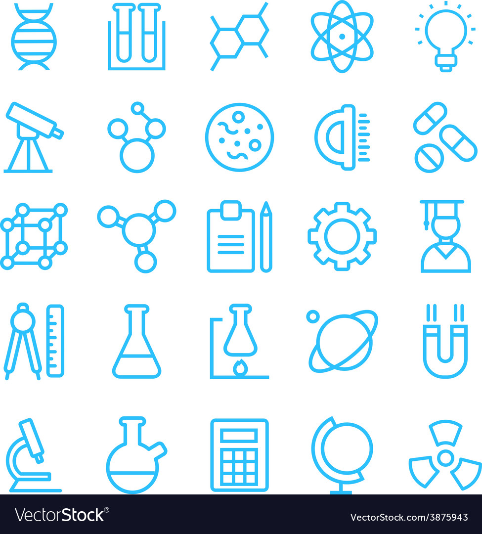 Science icon set for your products and projects