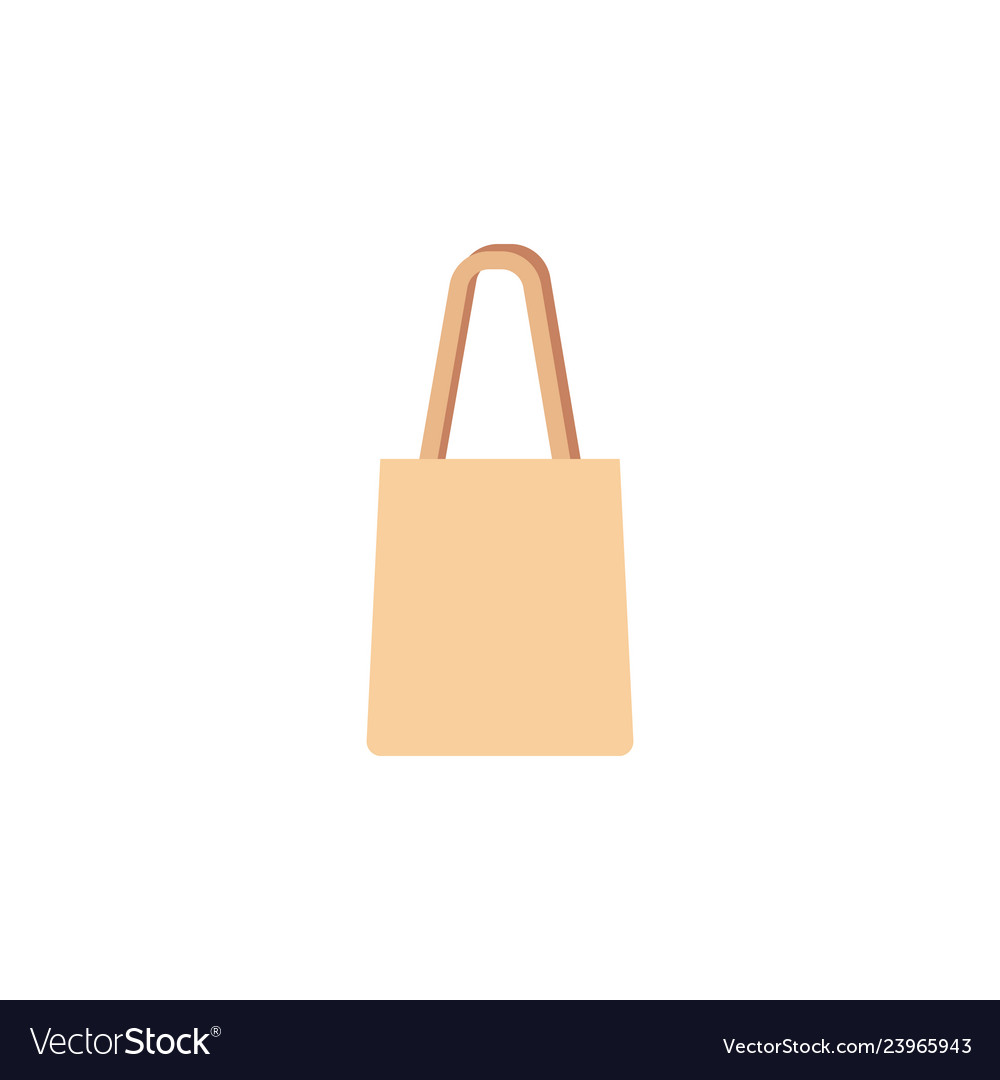 Shopping reusable grocery bag in a flat style