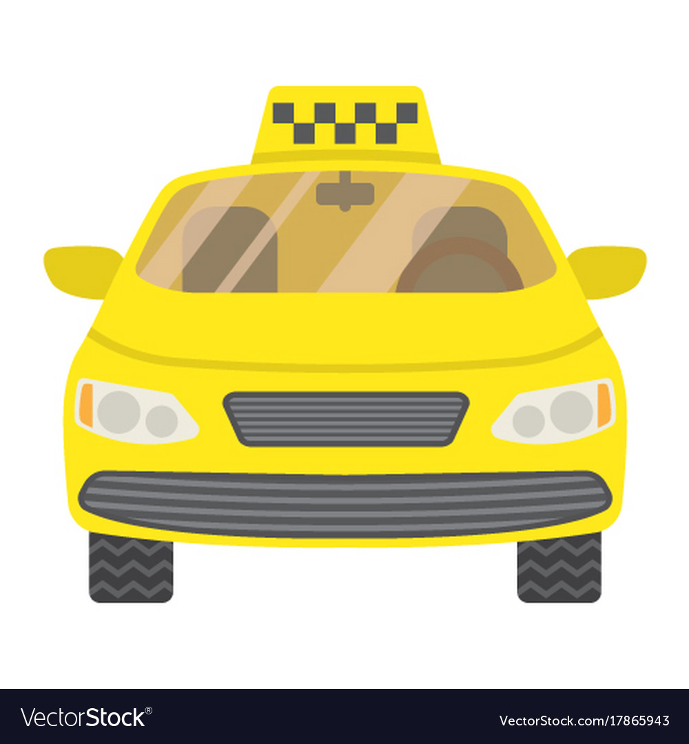 Taxi car flat icon transport and automobile
