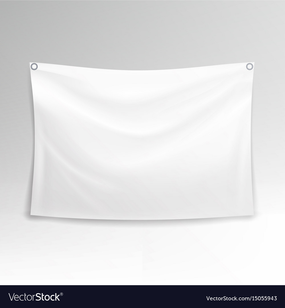 White banner realistic horizontal