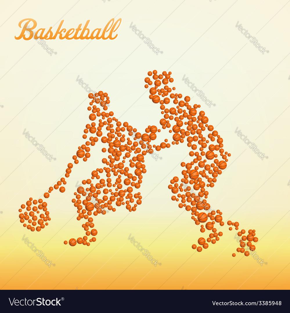 Abstract basketball player