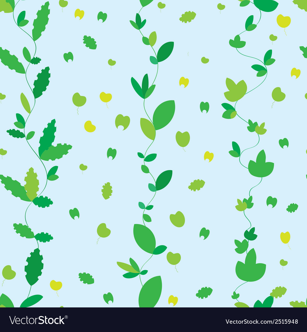 Seamless texture with green leaves