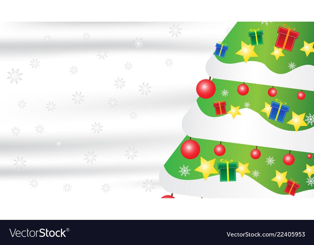 Christmas tree snowflake gift composition on white