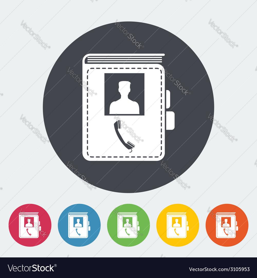 Contact book single icon