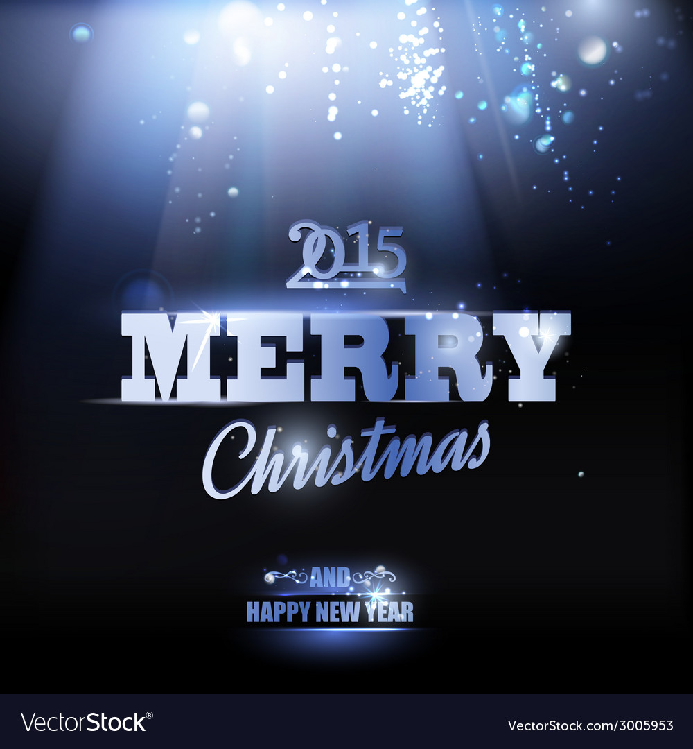 Merry christmas and happy new year 2015 card