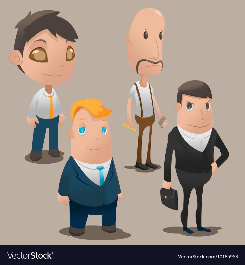 People Cartoon Worker Design Set