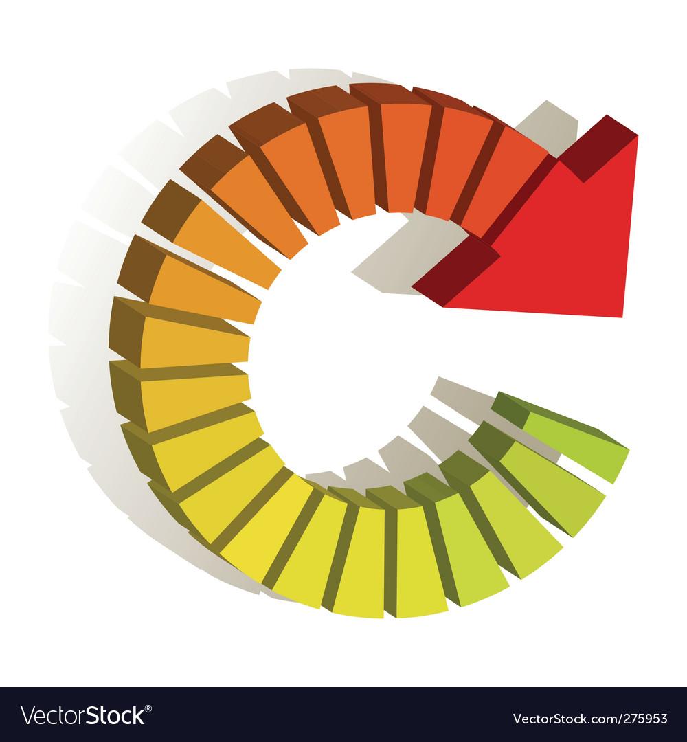 Rewind logo vector image