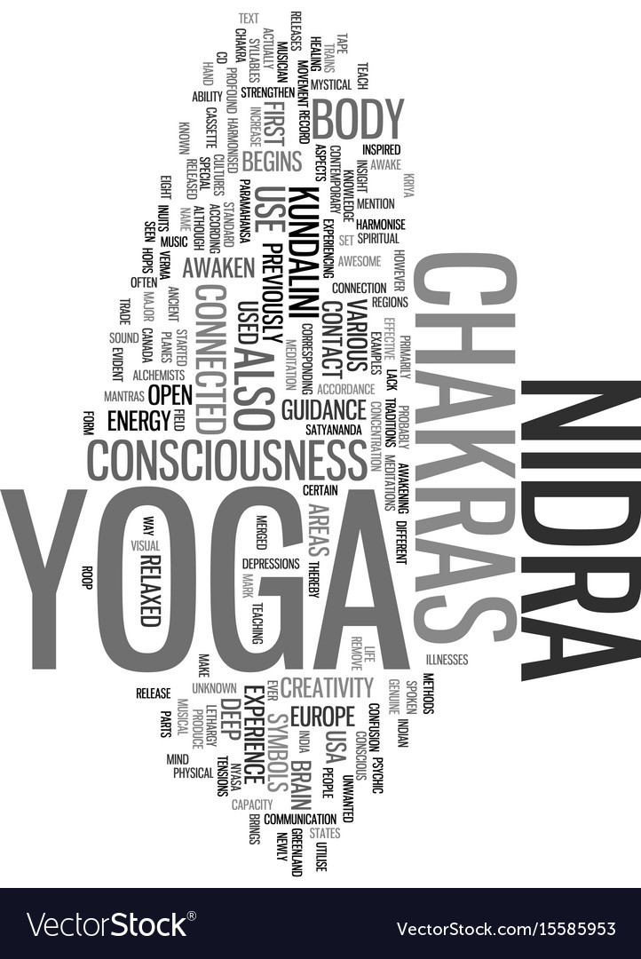 Yoga Nidra And Consciousness Chakras In Vector Image