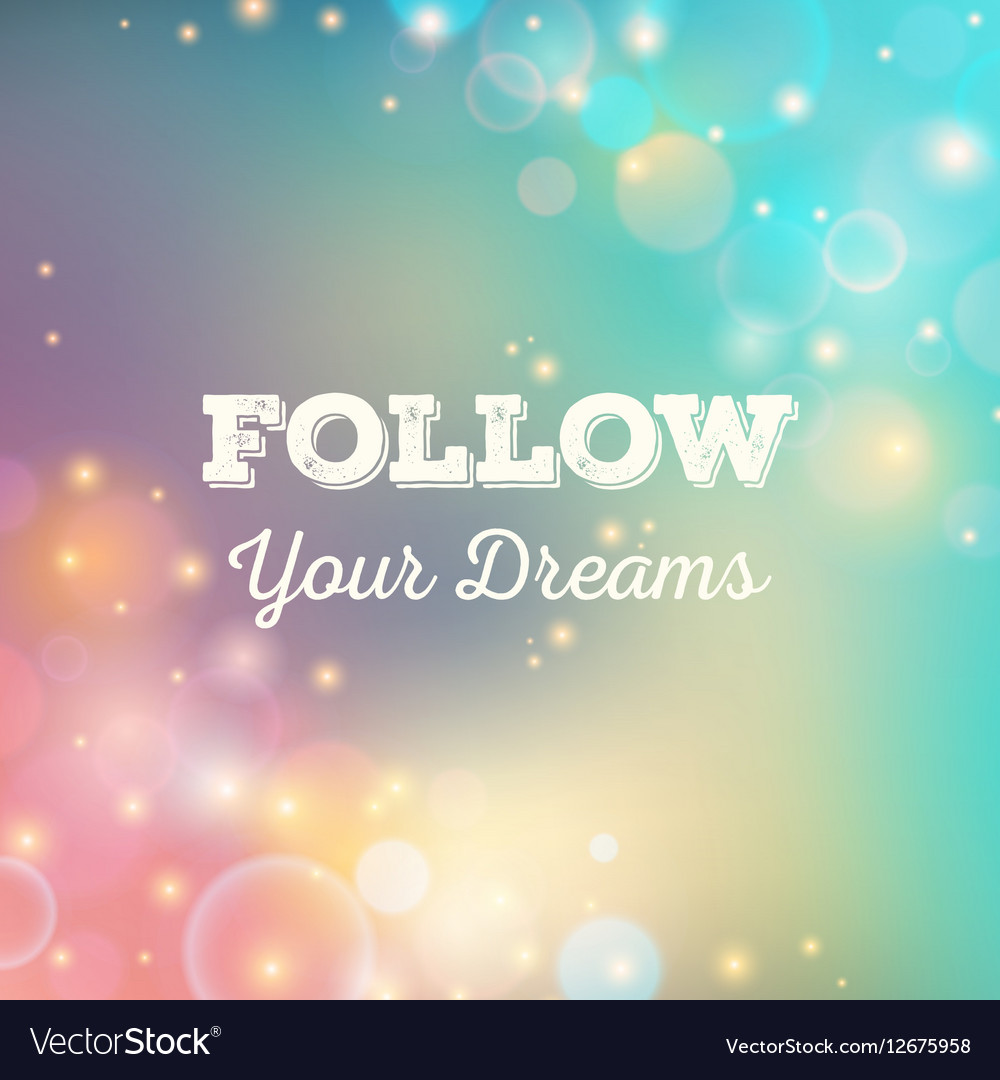 Bokeh background Blurred effect Poster vector image