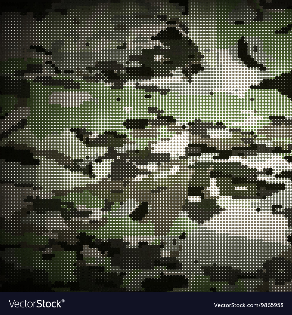 Camouflage military halftone pattern background