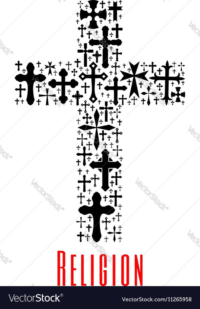 Christianity cross icon Religion symbol