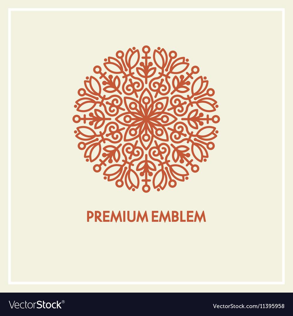 Conceptual template round logo design and