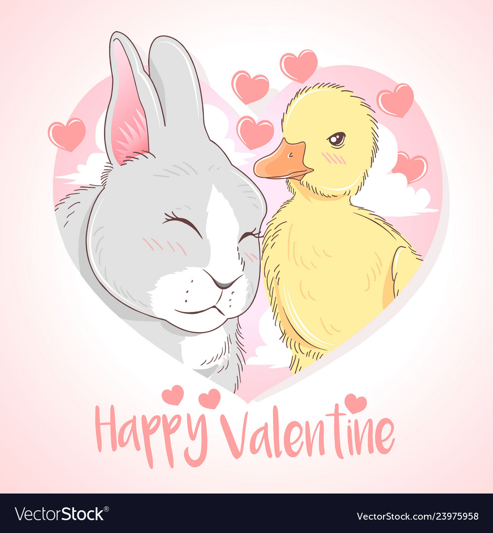 Duck and rabbit love