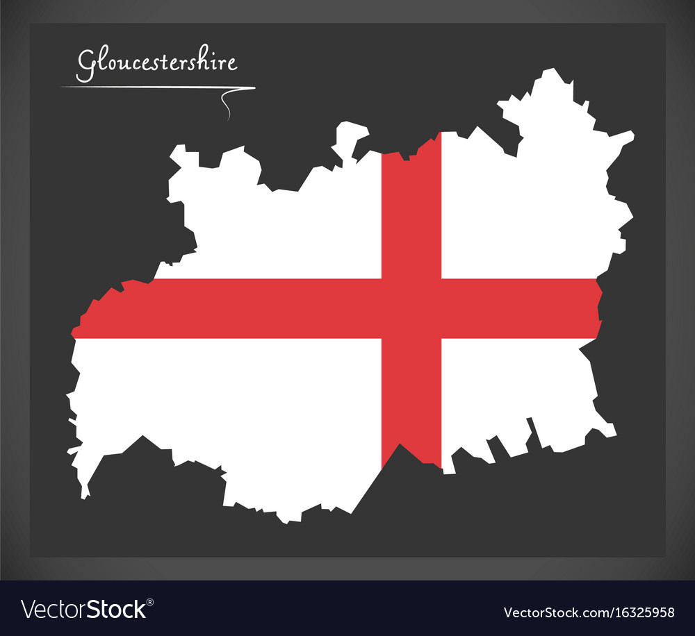 Map Of England Gloucestershire.Gloucestershire Map England Uk With English Vector Image