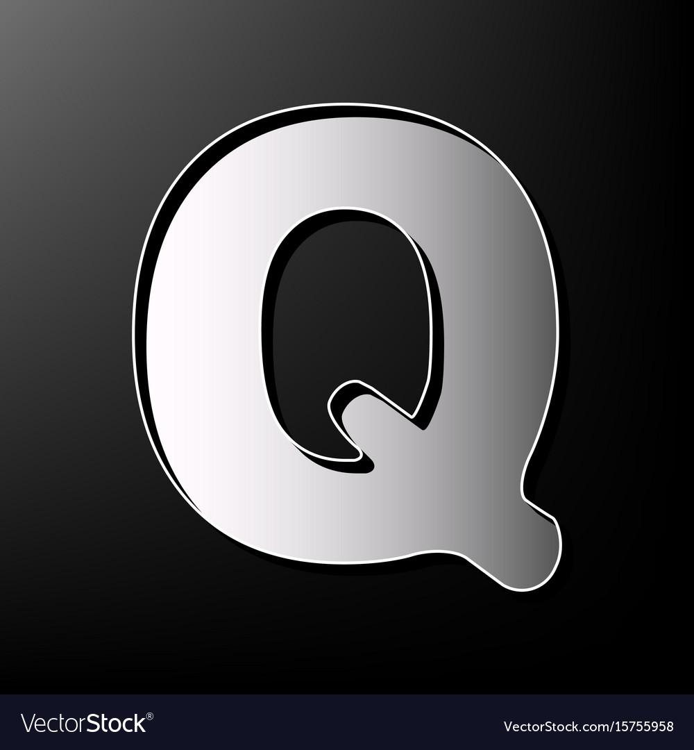 Letter q sign design template element