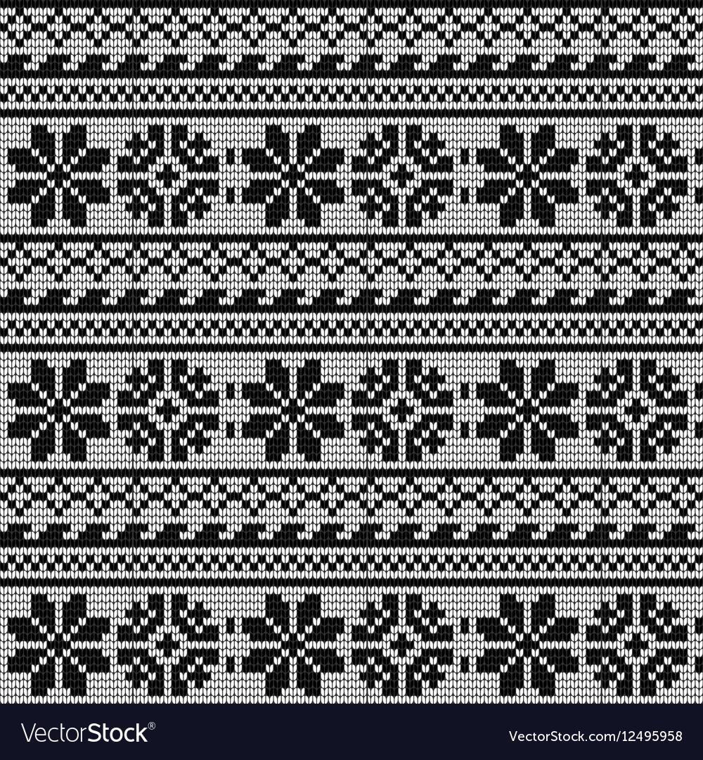 Norwegian Star Knitting Pattern Royalty Free Vector Image