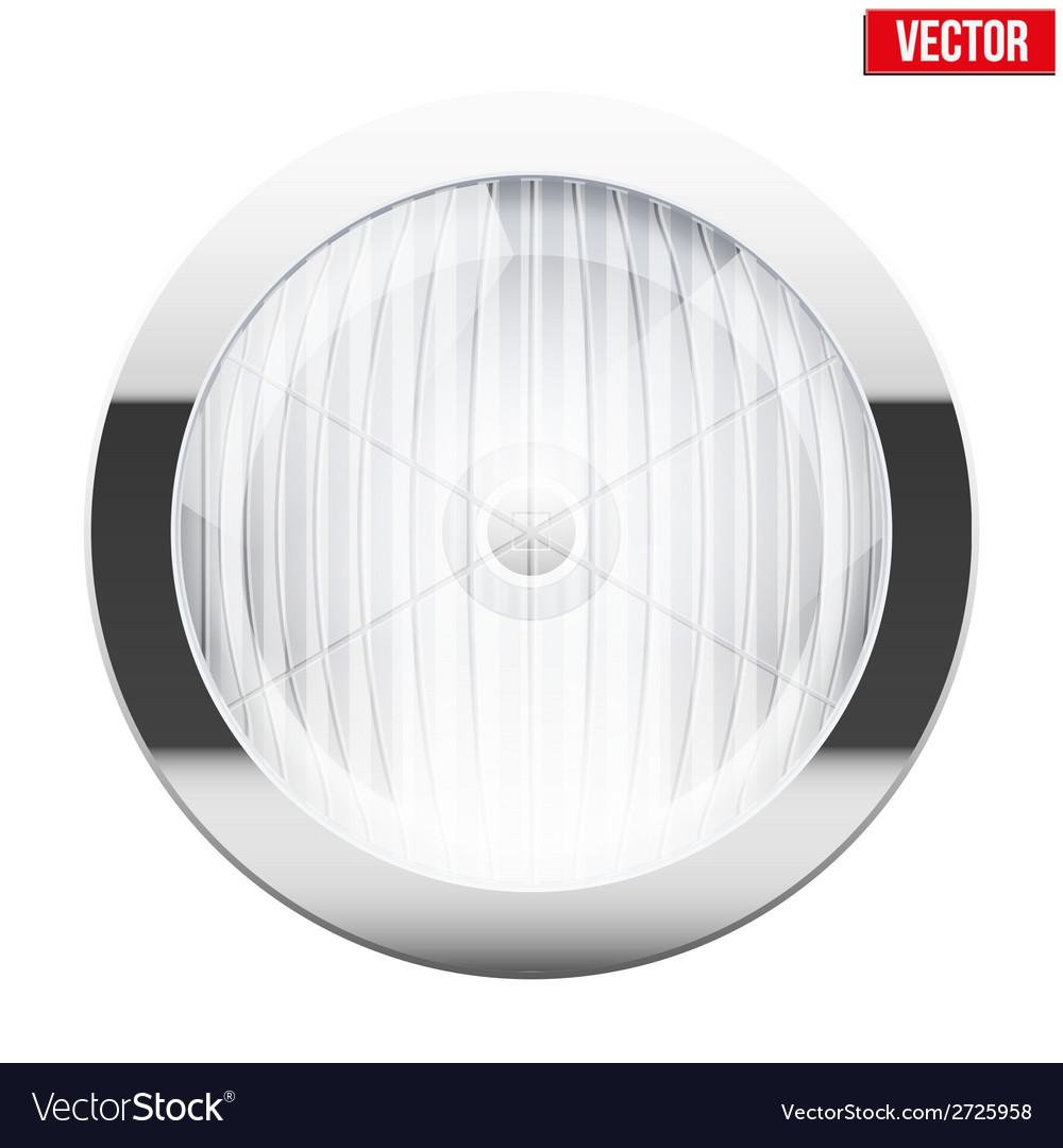 Round car headlight Vintage vector image