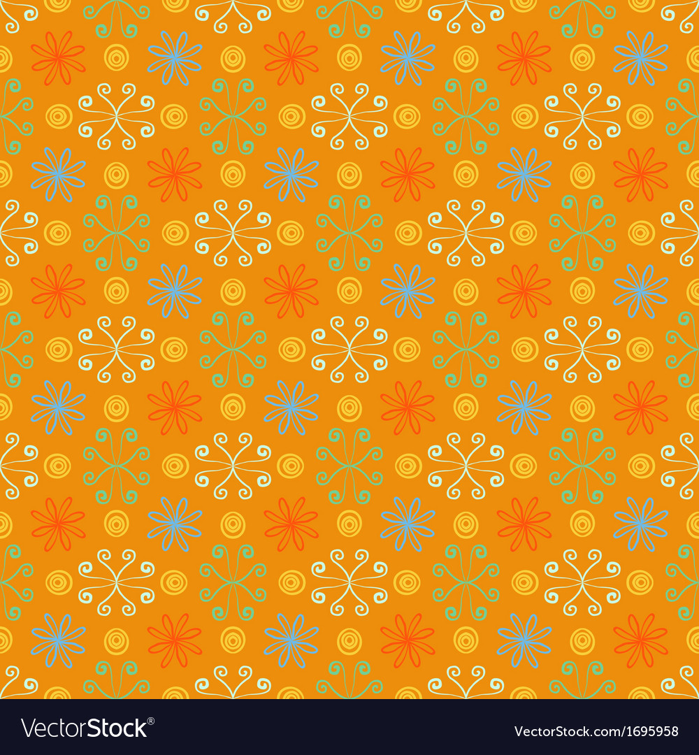 Summer simple and bright pattern with flowers vector image