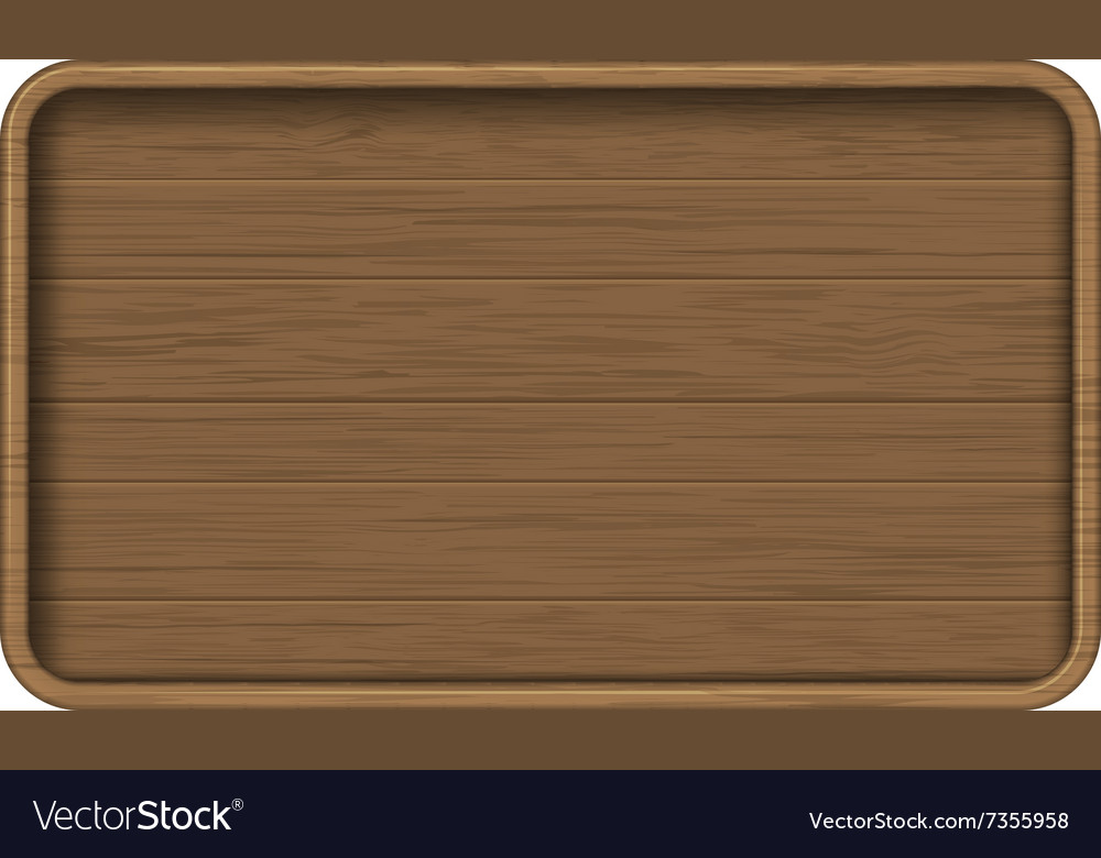 Wooden sign board vector image