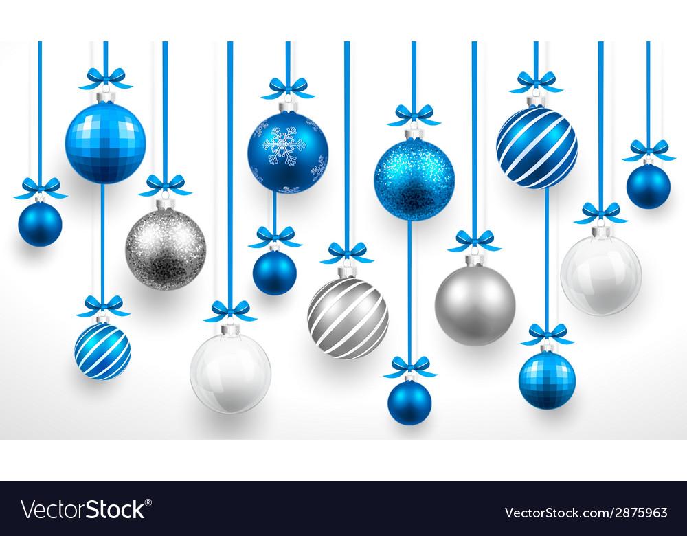 Christmas blue balls