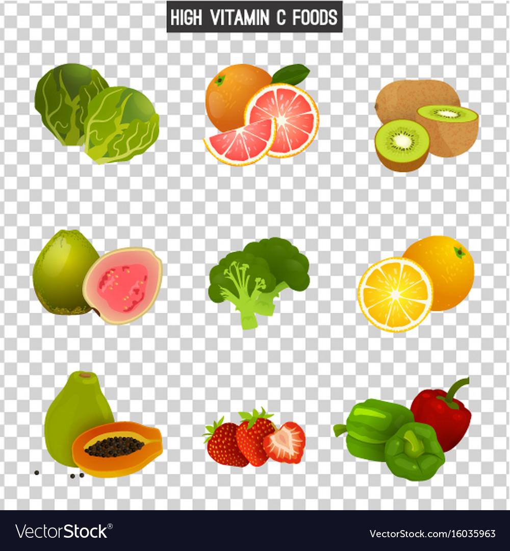 Vitamin c in food