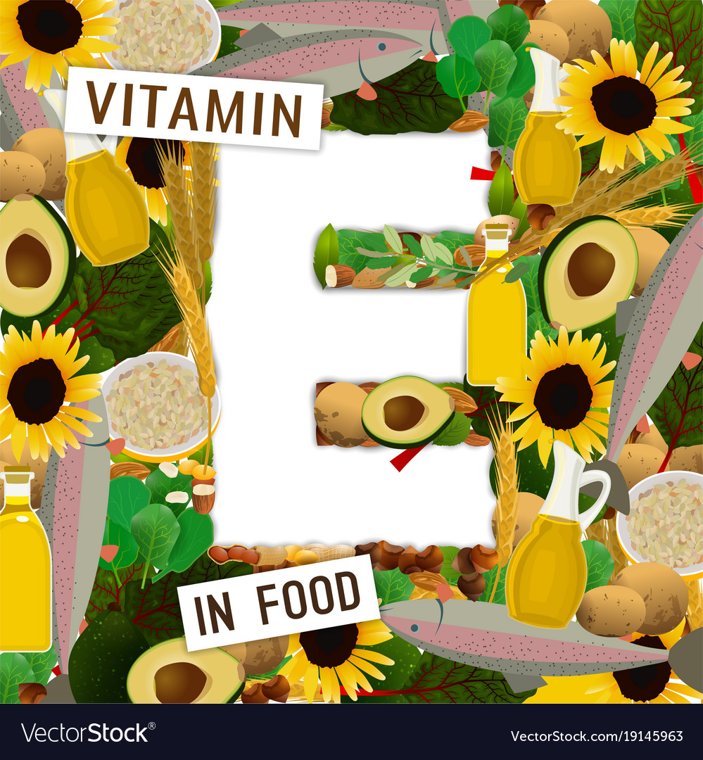 Vitamin e background