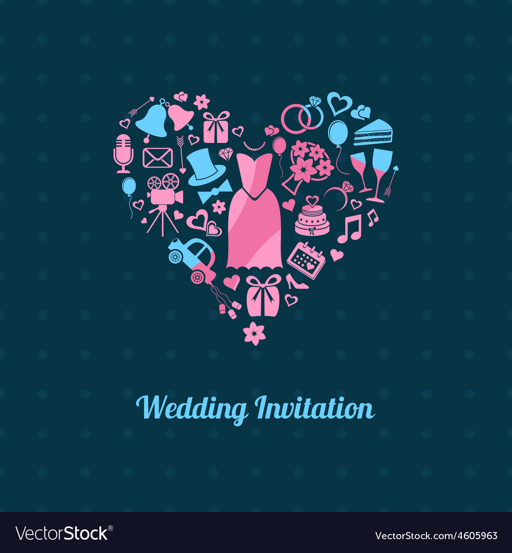 Wedding invitation royalty free vector image vectorstock wedding invitation vector image stopboris Images