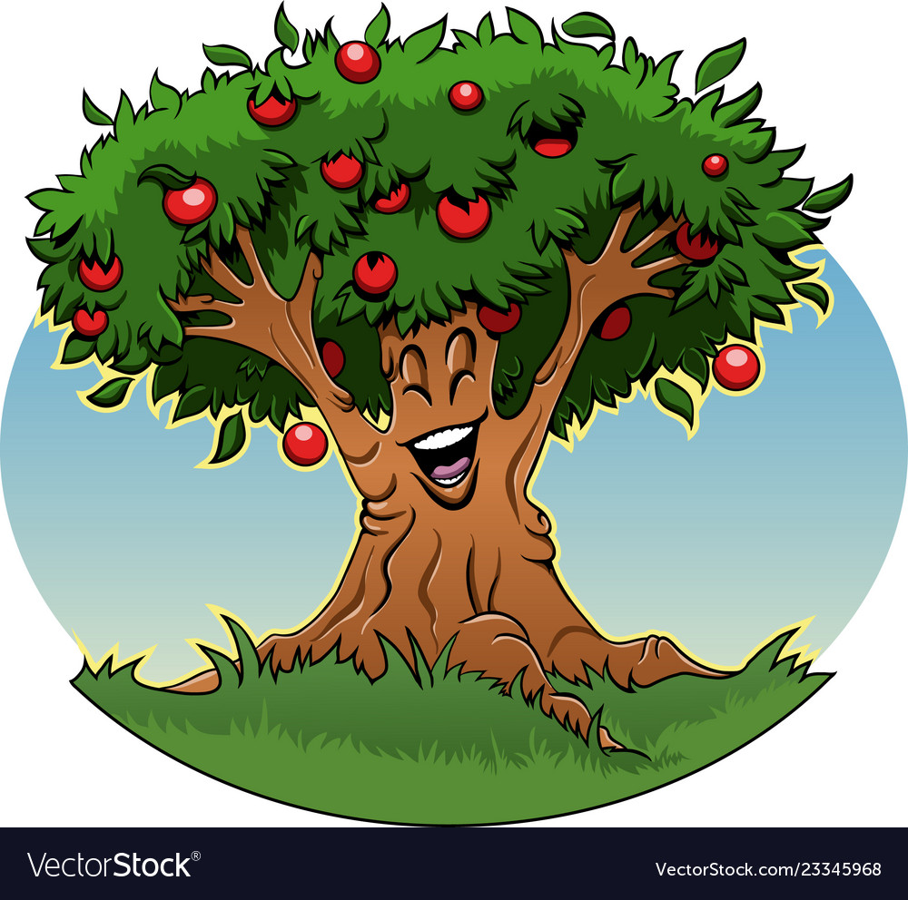 Apple Tree Cartoon Royalty Free Vector Image Vectorstock Are you searching for cartoon tree png images or vector? vectorstock