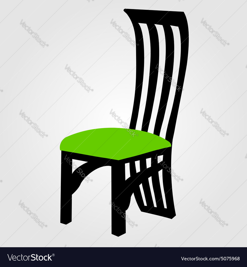Graphic Of Designer Dining Chair Vector Image