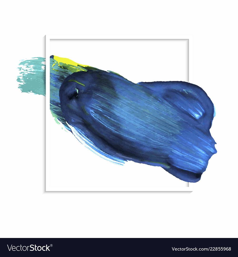 Hand drawn paint stroke blue banner