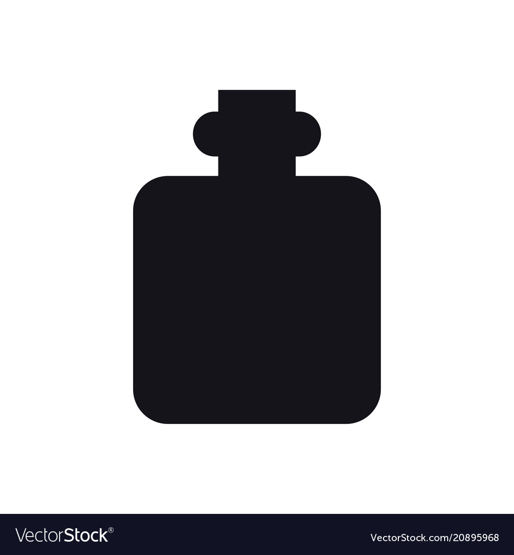 Hip flask icon camping sign and symbol alcoho
