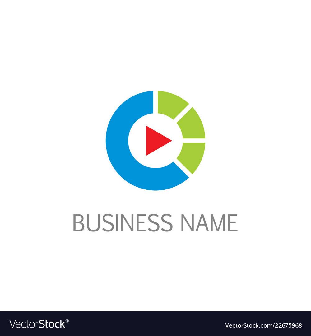 Play music button business logo