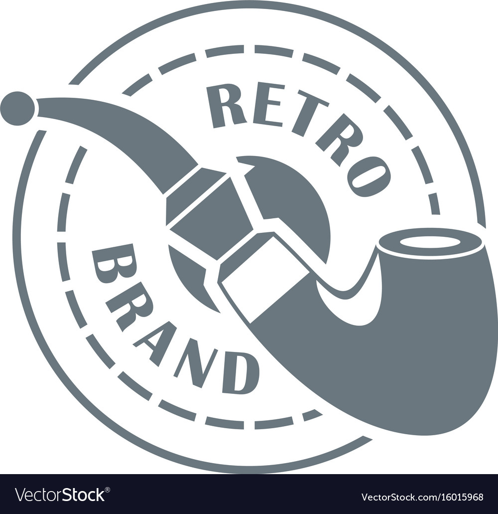Retro brand logo simple style