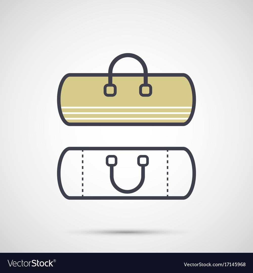 Sport bag with handles icon