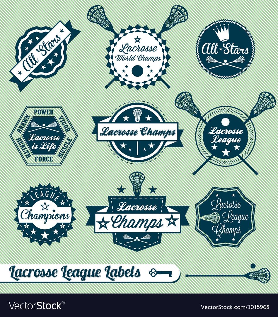 Vintage Lacrosse Labels