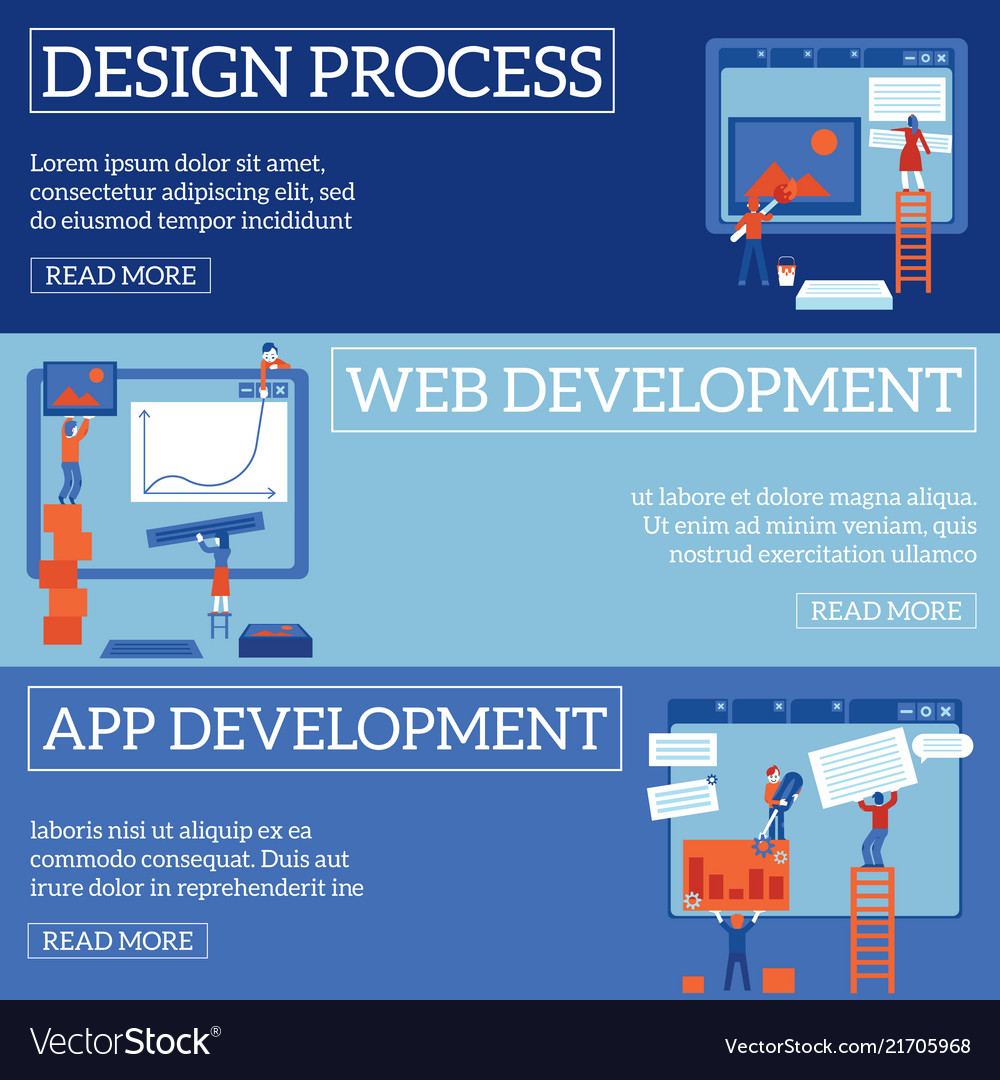 Web page design and development process on