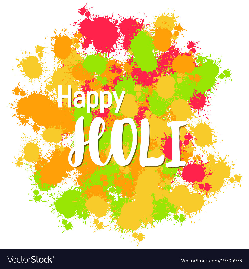 Abstract colorful happy holi background for vector image