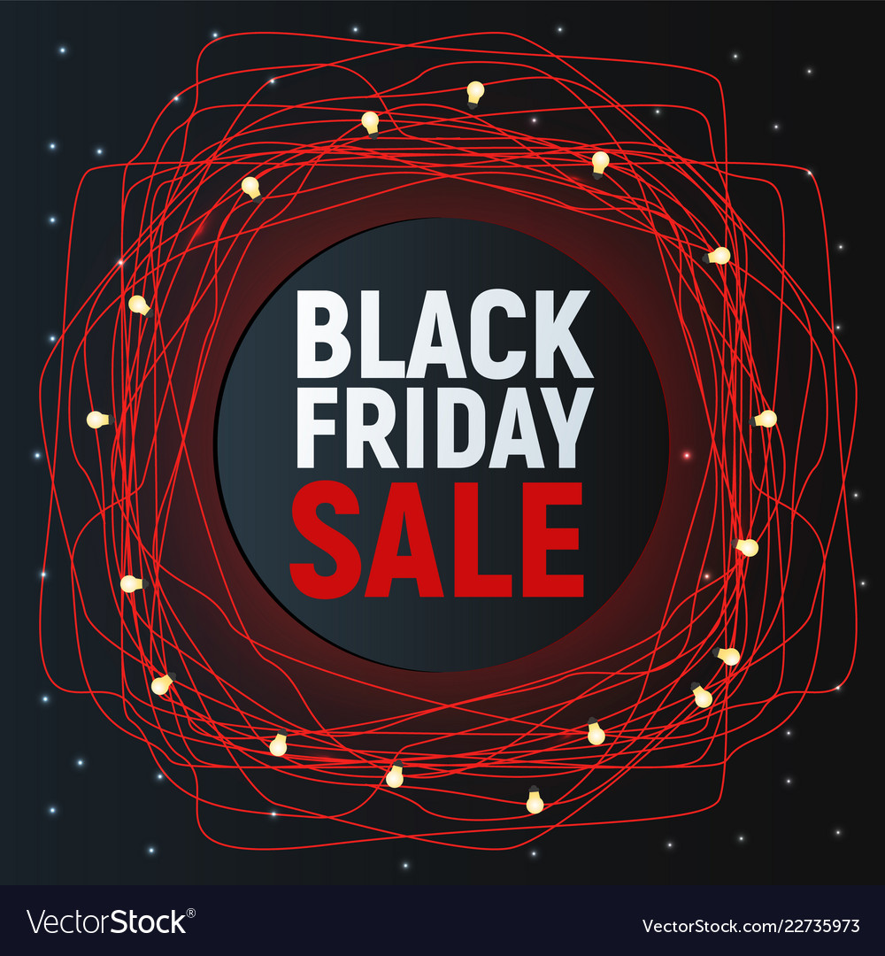 Black friday sale abstract poster red promo