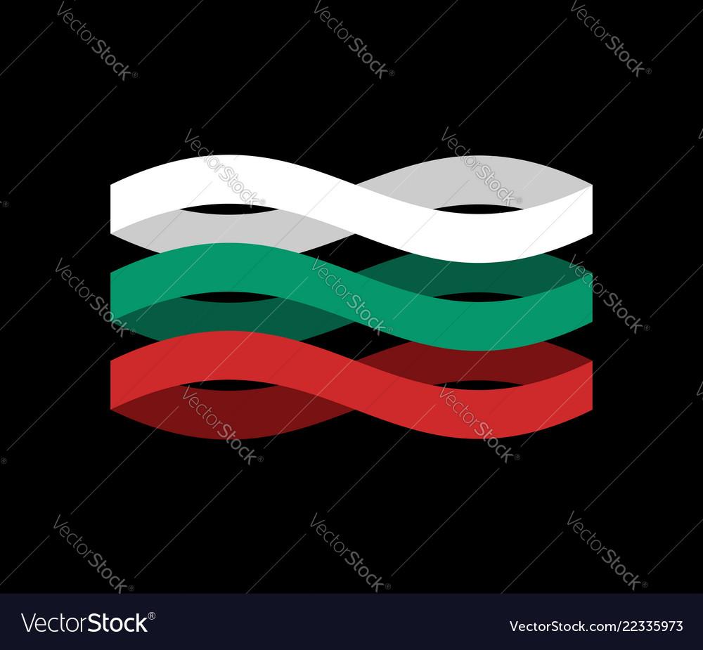 Bulgaria flag ribbon isolated bulgarian symbol