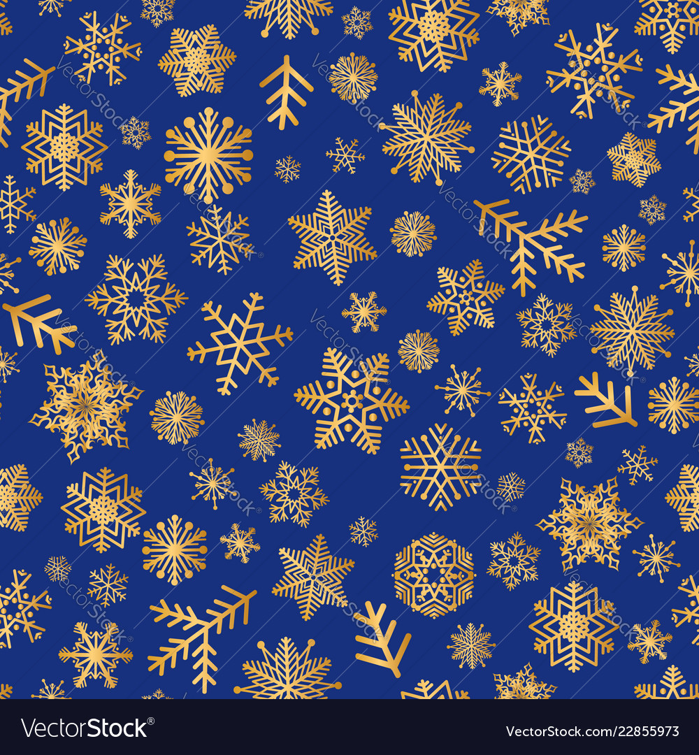 Christmas icons snow seamless pattern happy