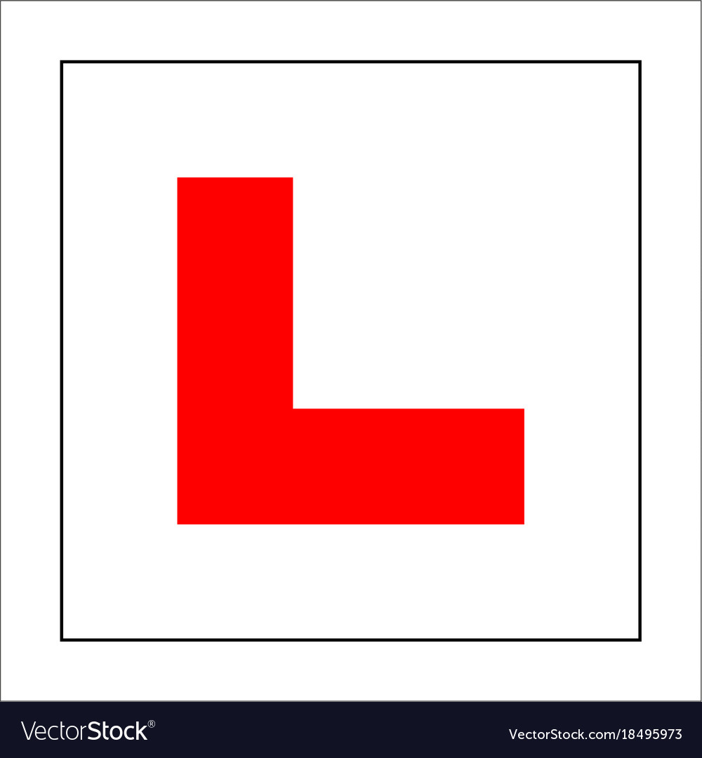 learner plate vector images 36