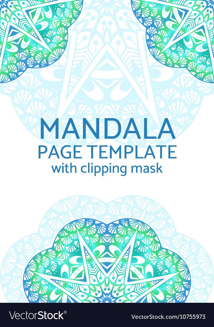 Mandala page template